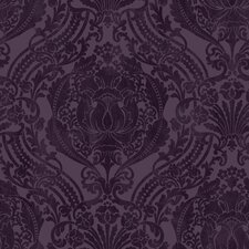 "Silk Damask 33' x 20.5"" Prepasted Roll Wallpaper"