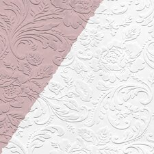 "All Over Damask 33' x 20.5"" Prepasted Paintable Roll Wallpaper"