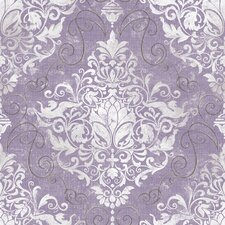 "Chandeliere Damask 33' x 20.5"" Prepasted Roll Wallpaper"