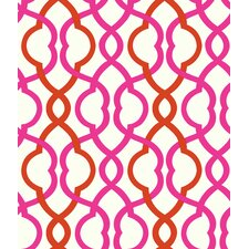 "Make Waves 33' x 20.5"" Prepasted Roll Wallpaper"