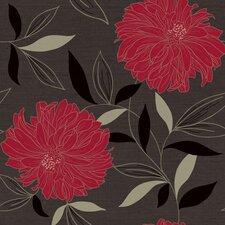 "Peony 33' x 20.5"" Prepasted Roll Wallpaper"