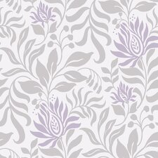 "Lily 33' x 20.5"" Prepasted Roll Wallpaper"