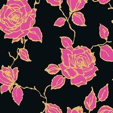 "Vintage Rose 33' x 20.5"" Prepasted Roll Wallpaper"