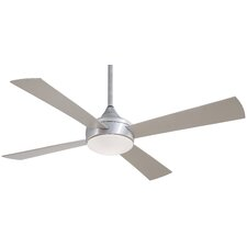 "52"" Aluma 4 Blade Wet Ceiling Fan with Remote"