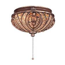 Universal 2 Light Bowl Ceiling Fan Light Kit