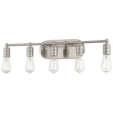 Downtown Edison 5 Light Bath Vanity Light