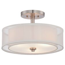 Parsons Studio 3 Light Semi Flush Mount