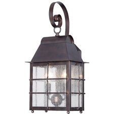 Willow Pointe 2 Light Outdoor Wall Lantern