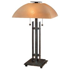 "Lineage 21.25"" H Table Lamp with Bowl Shade"