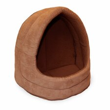 Snuggle & Terry Suede Hood Cat Bed