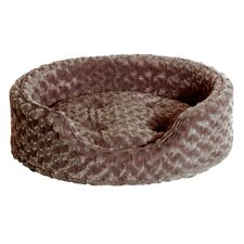 Ultra Plush Oval Pet Bed with Removable Cover