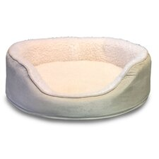 Orthopedic Sherpa/Suede Oval Pet Bed