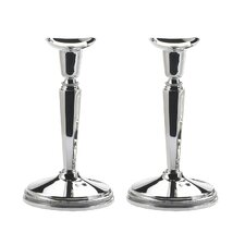 2 Piece Classic 155 mm Candlestick Set