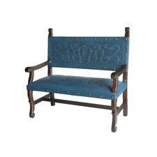Spanish Heritage Leather Entryway Bench