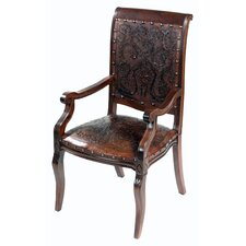Colonial Imperial Leather Arm Chair (Set of 4)