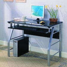 Computer Desk with Tempered Glass