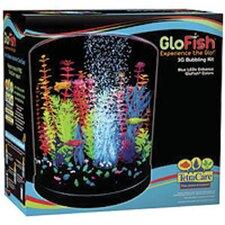 GloFish 3 Gallon Half Moon Bubbler Aquarium Kit