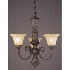 Cantabria 3 Light Candle Chandelier