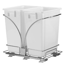 Glidez 9 Gal Double Waste Can Storage Caddy