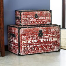 2 Piece New York Design Trunk Set I