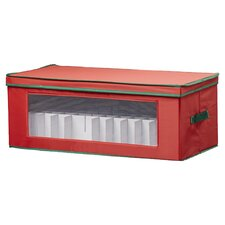 Storage and Organization 36 Piece Holiday Ornament Chest