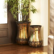 Hand-Painted Floor Vase