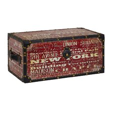 Elements New York Decoupage Storage Trunk