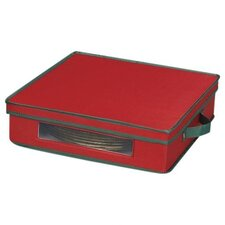 Charger Plate Chest in Red with Green trim