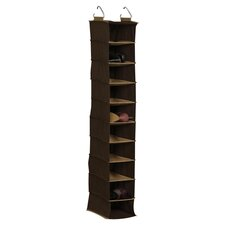 10-Compartment Hanging Shoe Organizer