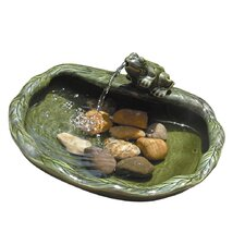 Solar Water Features Ceramic Frog Fountain