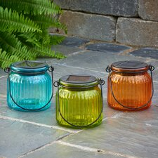 Solar 1 Light Outdoor Tabletop torch/lantern (Set of 3)