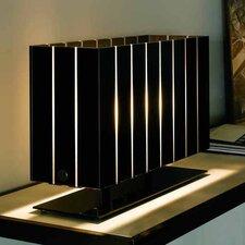 "Pin Stripe 15"" H Table Lamp with Rectangular Shade"