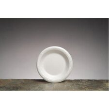 "6"" Celebrity Foam Round Plates in White"