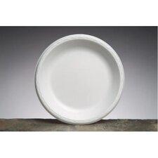 "10.25"" Elite Laminated Foam Round Plates in White"