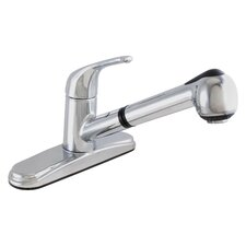 One Handle Centerset Kitchen Faucet with Pull Out Spray