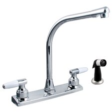 Two Handle Decor Kitchen Faucet with Spray
