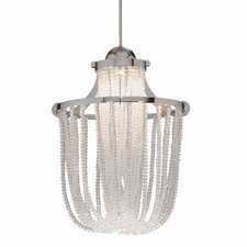 Crystal Cascade LEDme Quick Connect 1 Light Monopoint Pendant