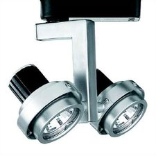 2 Light Double Adjustable Low Voltage Track Head