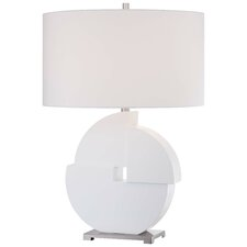 """26.25"""" H Table Lamp with Drum Shade"""