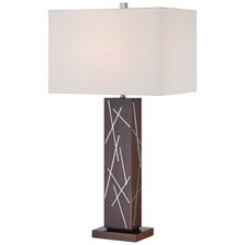 "30.5"" Table Lamp with Rectangular Shade"