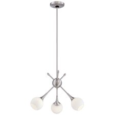 Pontil 3 Light Mini Chandelier