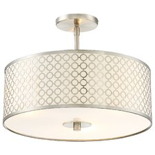 Dots 3 Light Semi-Flush Mount