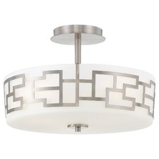 Alecia's Necklace 3 Light Semi Flush Mount