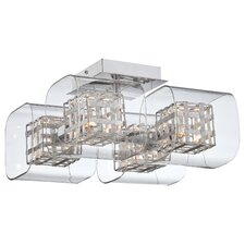 Jewel Box 4 Light Semi Flush Mount