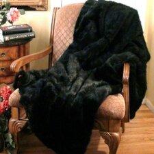 Black Bear Throw Blanket with Velvet-Velour Lining