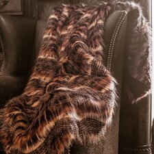 Red Fox Tail Throw Blanket