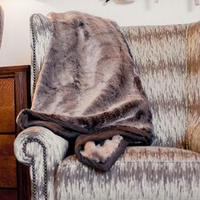Russet Chinchilla Throw Blanket