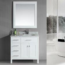 "London 36"" Single Bathroom Vanity Set with Mirror"