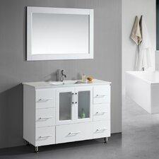 "Milan Stanton 48"" Single Modern Bathroom Vanity Set with Mirror"