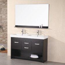 """Citrus 48"""" Double Bathroom Vanity Set with Mirror"""